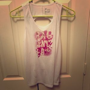 Old Navy Go Dry Twisted Back Tank Top